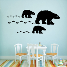 NEW Animal  Polar Bear Self Adhesive Vinyl Waterproof Wall Art Decal Waterproof Wall Decals Wall Decoration Murals цена