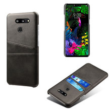 PU Leather Back Cover Phone Case For LG G8 THIN Q V50 K40 K20 Aristo2 Business Style Card Pocket Wallet Slim Shell