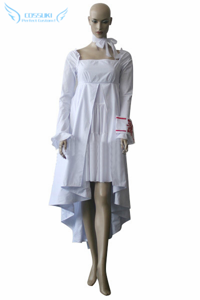 Newest High Quality Vampire Knight Night Yuuki Cross White Gown Uniform Cosplay Costume ,Perfect Custom For You !