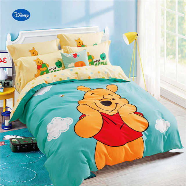 Winnie The Pooh Printed Comforter Bedding Sets Children S Bedroom 600tc Cotton Bed Covers Single Twin Full