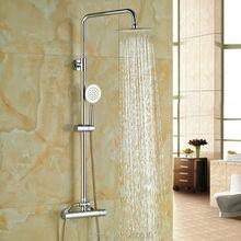 Недавно латунь ванная комната 8 » термостатическая душа установить ж / ручной душ хром пластины смеситель кран