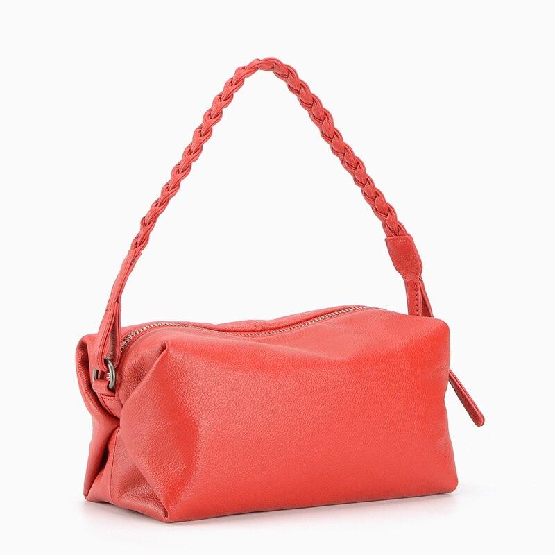 2018 novetly female genuine leather cuboid one shoulder bag women mini unique design messenger bag small summer purse unique design women 2018 spring summer