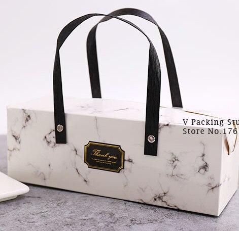 Trinkwasser marmor Design Papier Kuchen Box Schokolade Party Cookies Box Geschenk Box 100 pcs/los Freies verschiffen-in Geschenktüten & Verpackungs-Zubehör aus Heim und Garten bei AliExpress - 11.11_Doppel-11Tag der Singles 1