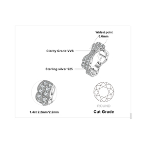 Image 5 - JewelryPalace CZ 결혼 반지 여성을위한 925 스털링 실버 반지 Stackable Anniversary Ring Eternity Band Silver 925 Jewelry