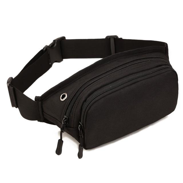 Men Waterproof 1000D Nylon Sling Chest Bag Fanny Pack Waist Bag Hip Bum Belt Cross Body Messenger Casual Shoulder Pouch Purse