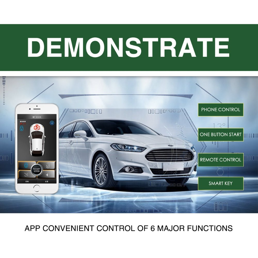 MP900 Car Alarm Compatible Starline Android System Remote Central Lock Keyless Entry PKE Start Stop Smartphone