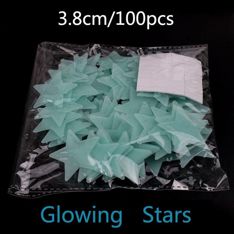 HTB1IyFALVXXXXagXXXXq6xXFXXXg - 100Pcs Glow In The Dark Stars Moon Sticker Beautiful 3D DIY Home Decal Art Luminous Wall Stickers For Baby Kids Bedroom Decor