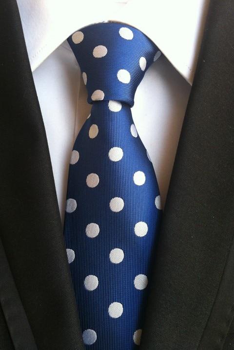 Дизайнерский набор галстуков 8 см галстук синий с белым крупный горох матч костюмы тканые карманные квадратные