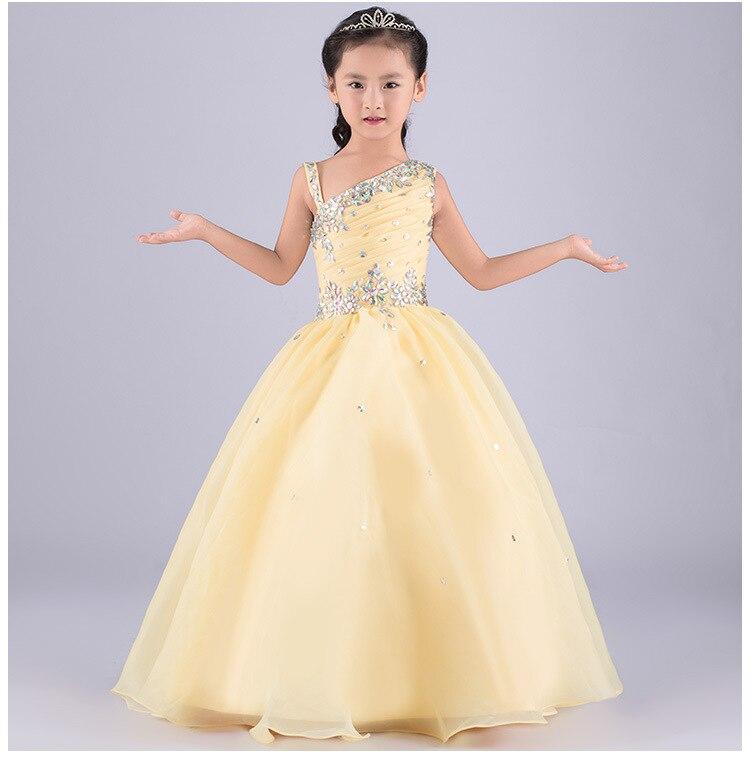Платье бальное желтое для девочки