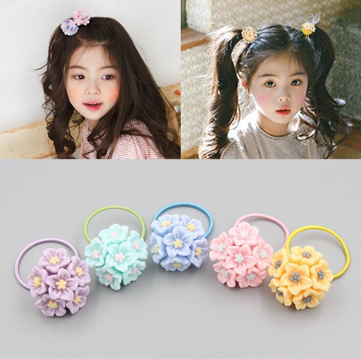 Children 39 s hair ring cute princess flower hair rope baby girl head flower little girl tie hair band hair accessories headdress in Women 39 s Hair Accessories from Apparel Accessories