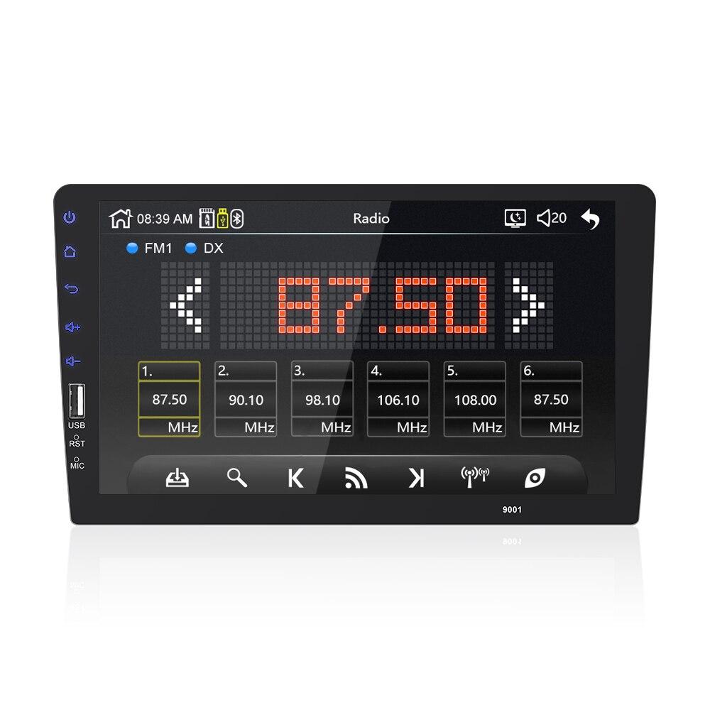9 10. 1 дюймов Автомобильный мультимедийный плеер 1 din автомобильный Радио Bluetooth USB камера заднего вида MP5 плеер авторадио без android - 4