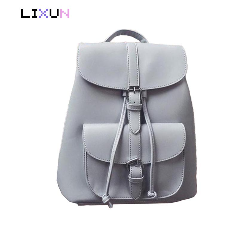 цены Women's Drawstring PU Leather Backpack School bags For Teenage Girls Travel Backpacks Women High quality ladies Bag pack Mochila