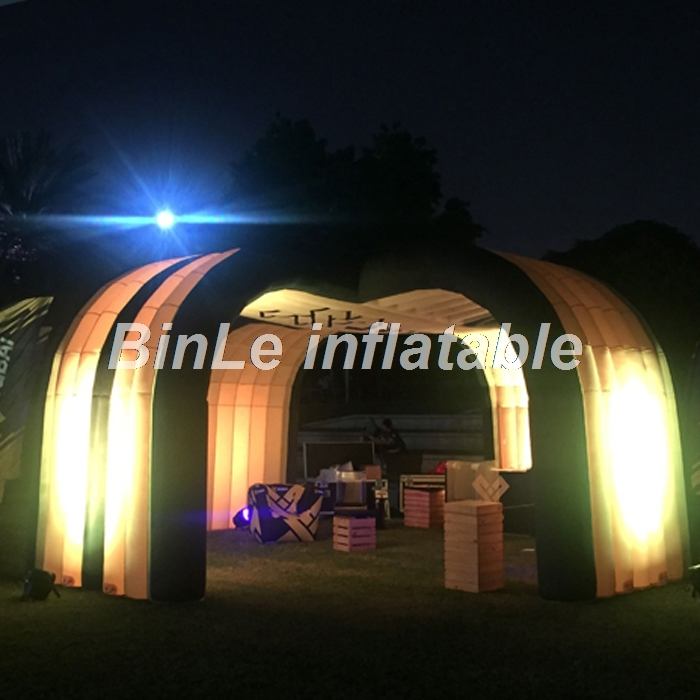 цена на Customized open air large outdoor LED inflatable tent dome inflatable building structure for party events