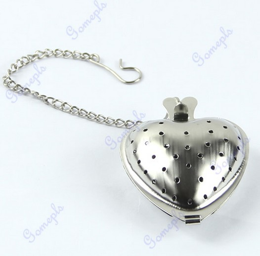 New Heart Shape Tea Infuser Stainless Steel Filter Strainer Tea Spice Ball Spoon Wholesale&Retail