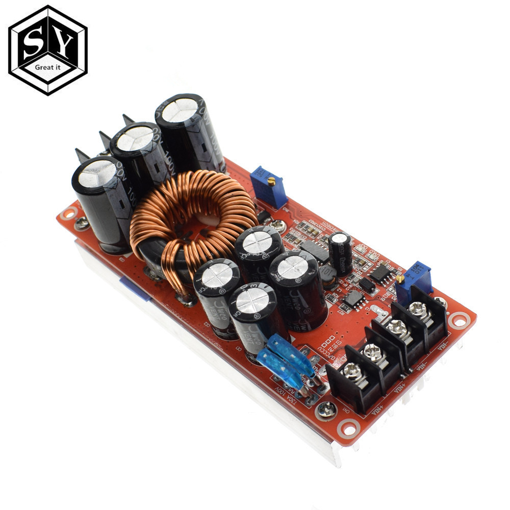 1PCS Great IT 1200W 20A DC Converter VBoost Step-up Power Supply Module IN 8-60V OUT 12-83V1PCS Great IT 1200W 20A DC Converter VBoost Step-up Power Supply Module IN 8-60V OUT 12-83V
