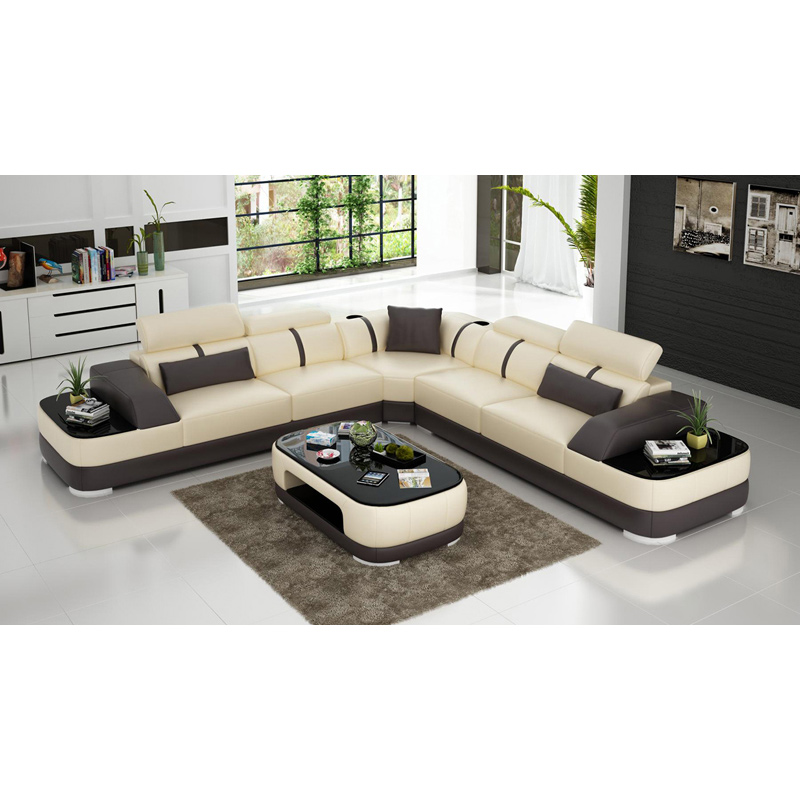 Latest Modern White Leather Office Sofa