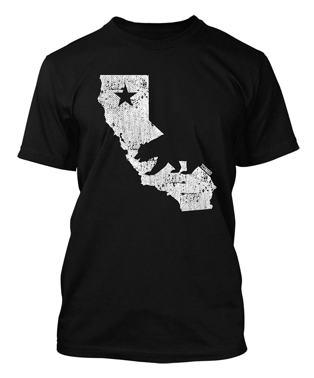 Tee Shirt Mens 2018 New Tee Shirts Printing California State Map