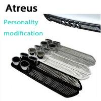 Atreus 2X Car Styling 3D Cool Auto Carbon Exhaust Stickers For Nissan Qashqai J11 X TRAIL