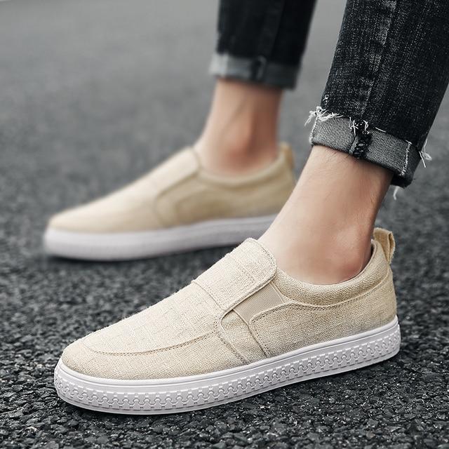 2018 Baru pria Rami Bernapas Berjalan Sepatu skateboard Laki-laki Sepatu  Kanvas Pria Sneakers Slip 009eb96ab7