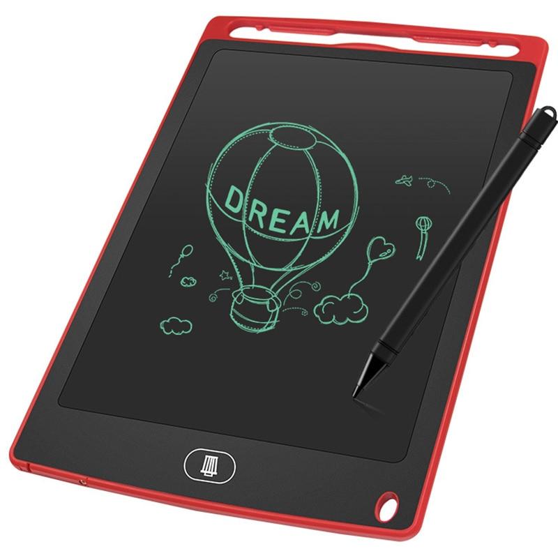 Mini placa blackboard eletrônico 8.5 Polegada para meninas menino lcd tablet magnético quadro de papelão digital placa escrita flip chart
