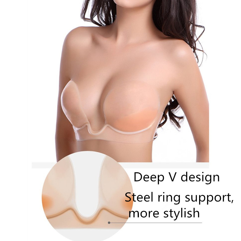 Hot Sexy Women Invisible Bra Self-Adhesive Strapless Silicone Breast Form Enhancer Bra Woman Lingerie Nude Bras