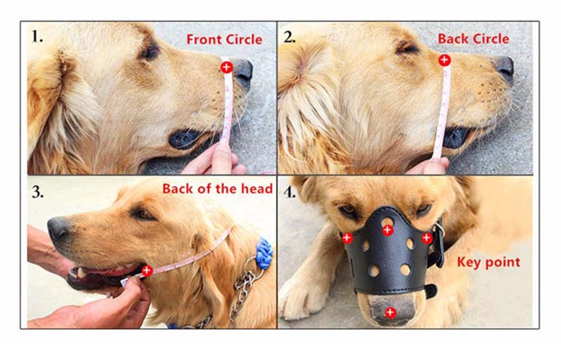 SYDZSW PU Leather Dog Muzzle Restraint Bite Black Brown Adjustable Puppy Pet Mask for Small Large Dogs Pet Supplies Dog Products13