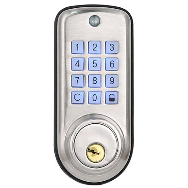 Serrure de porte numérique à la maison intelligente bon marché, serrure à pêne dormant électronique de serrure de porte de Code Pin sans clé intelligente imperméable