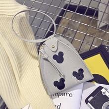 Мультфильм печати mickey мини напульсники сумки hotsale партийные дамы сцепления плеча женщины мобильный кошелек crossbody сумки(China (Mainland))