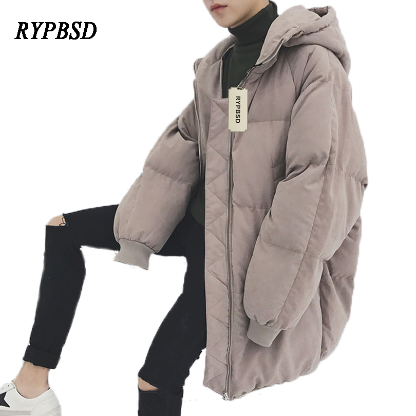 Hooded Thicken Loose Fashion Casual Long Parka Male Section Mens Coat Sudadera Hombre Coat Doudoune Homme Coat 3 Colors