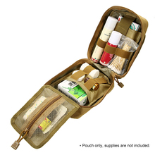 Outdoor MOLLE Medical Pouch First Aid Kit Utility Bag Emergency Survival First Responder Medic Bag 1000d molle tactical first aid kits utility medical accessory bag outdoor hunting hiking survival modular medic bag pouch
