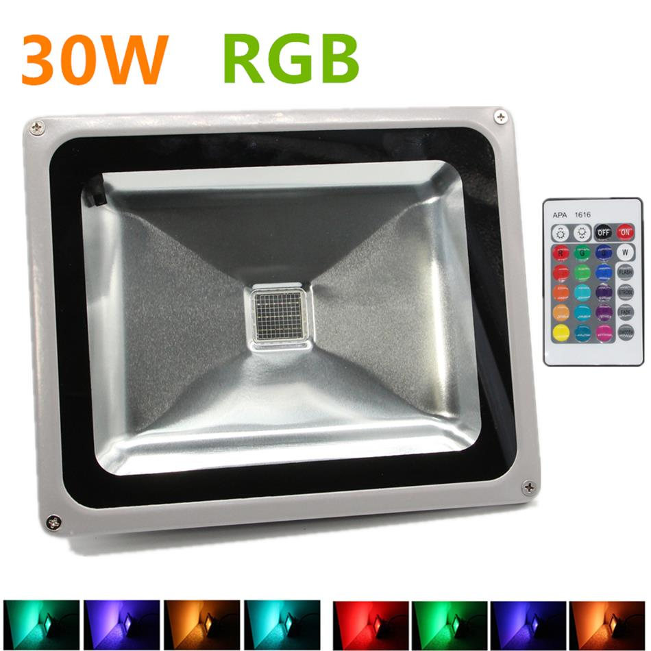 rgb led flood light 30w rgb foco led exterior ip65. Black Bedroom Furniture Sets. Home Design Ideas