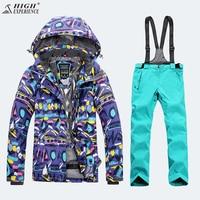 High Experience Ladies Snow Clothing Ski Jacket Women Skiing Pants Womens Mountain Skiing Outdoor Winter Warm