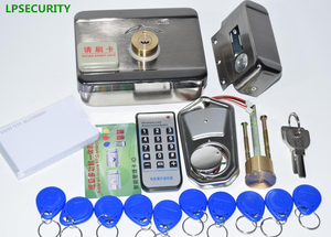 Image 4 - LPSECURITY 2 or 10 tags Door & gate lock castle Access Control Electronic integrated RFID Door Rim lock RFID reader for intercom