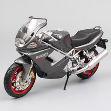 1/12 Scale Newray Ducat Desmodromic ST series ST4S sport touring motorcycle vehicles Diecast Replica bike model toy for kids boy