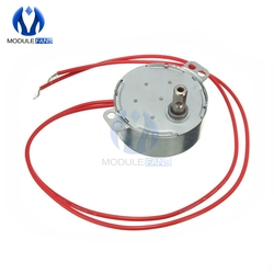 Pro TYC 50 12V 4W 50 / 60Hz Synchronous Motor 5 / 6RPM CW CCW Microwave Oven Tray Motor Low Noise AC Motor 12V