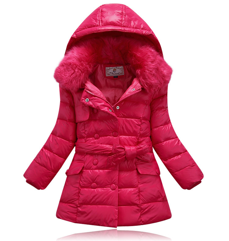 winter baby snowsuit baby girl fur collar winter coat kids ...