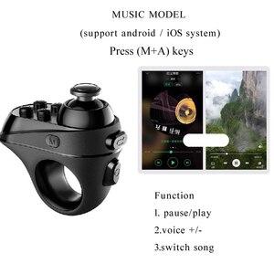 Image 4 - سماعة لاسلكية تعمل بالبلوتوث إصبع أذرع التحكم في ألعاب الفيديو مقبض محول ماوس صور شخصية التبديل صفحات وظيفة دعم نظام أندرويد iOS