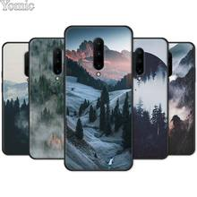 Soft Phone Case Shell for Oneplus 7 7 Pro 6 6T 5T Black Case for Oneplus 7 7Pro Silicone Cover Mountain Peak Forest