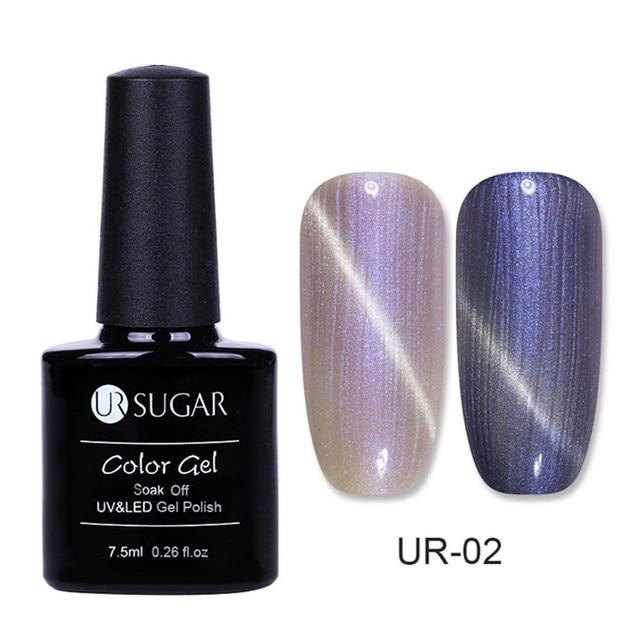 UR SUGAR 7.5ml Starry Chameleon 3D Cat Eye Magnetic Gel Glitter Manicure Nail Art Soak Off UV