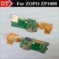 100% Original ZP1000 USB cargo enchufe conector de la placa con FPC para ZOPO ZP1000 8510 USB teléfono celular inteligente