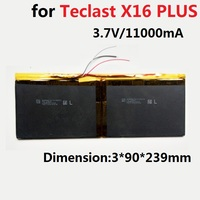 Battery for Teclast X16 PLUS Tbook 11 Tablet PC New Li Polymer Rechargeable Accumulator Replacement 3.7/3.8V 11000mAh 3090239