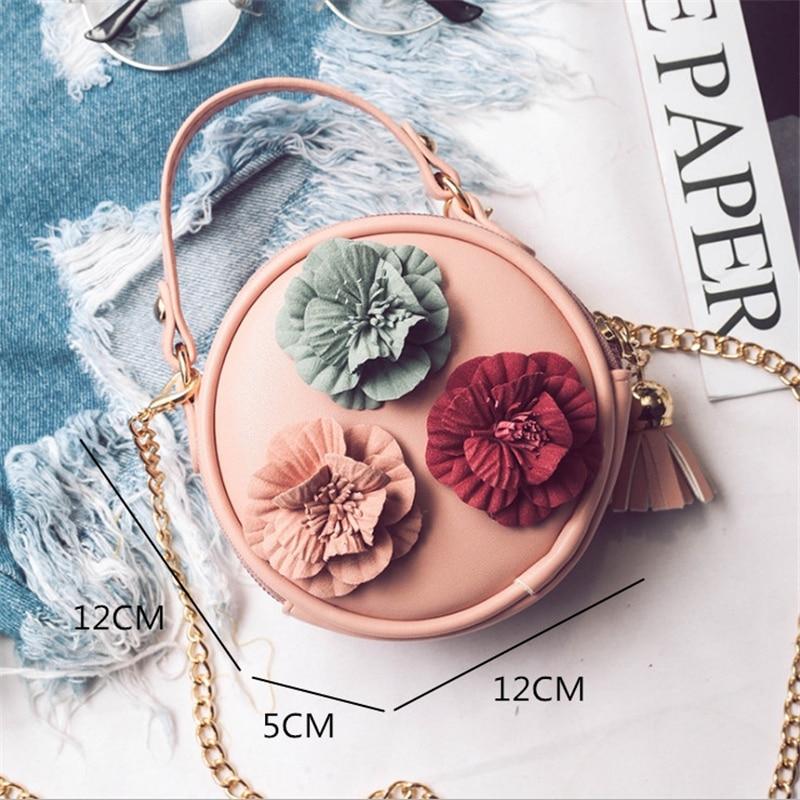 Girls Messenger Bag For Women 2019 Mini Fashion Shoulder Bags Portable Children 39 s chain girl Bag Cute Flower Handbag Purse