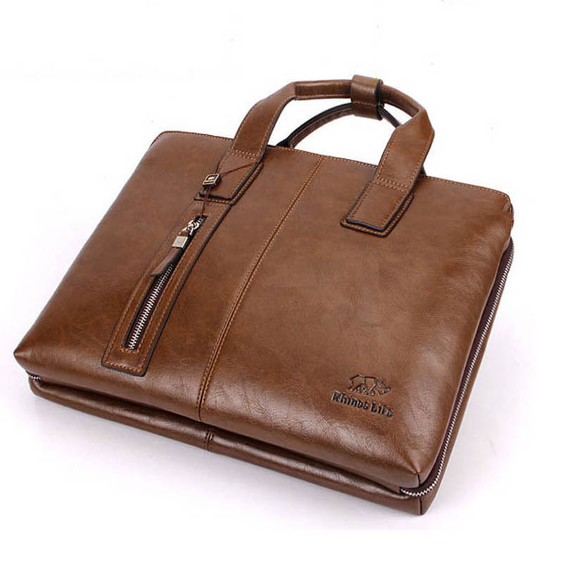 New Fashion Brand men handbags vintage brown leather briefcase Business Shoulder Bags high Quality leather laptop briefcase bag алмазы сибири