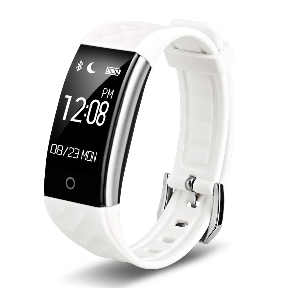 696 S2 Bluetooth Smart Band Waterproof Touch Screen Wristband Heart Rate Monitor ...