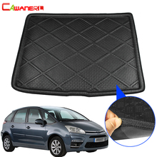 Cawanerl Car Tray Boot Liner Rear Trunk Mat Luggage Floor Kick Carpet Mud Cargo Protector Pad For Citroen C4 Picasso 2008 2018