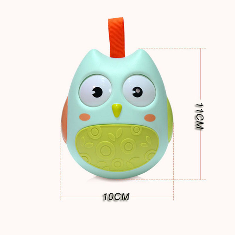 Baby Rattles Tumbler Doll Toys Sweet Bell Music Roly-poly Tilting Teethers Toys