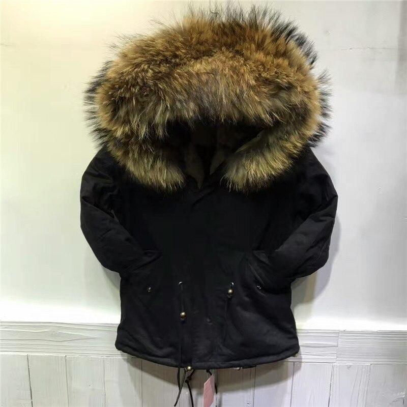 Couleur naturelle épaisse chaude fausse fourrure à l'intérieur de la veste femmes hiver manteau 2016 mode noir à capuche fourrure parka