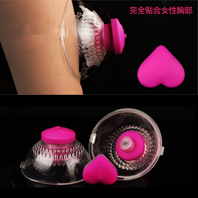 Wireless Remote Breast enhancement Nipple Stimulation Vibrator 360 Rotating Breast Physical Massage Enlarger Sex Toys For Woman breast nipple enlarger suction massagers personal health