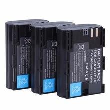 3 шт. Полный кодированный LP-E6 LPE6 2650 мАч Батарея Batteria для Canon 5D Mark II III и IV 70d 5ds 6D 5ds 80d 7D 60D 5ds R DSLR Камера
