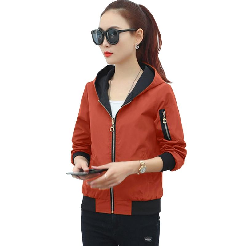 2018 Spring Aviator   Jacket   Women   Basic     Jacket   Women Fashion Vintage Baseball Uniform Both Sides Wear Kanye West Bomber   Jackets